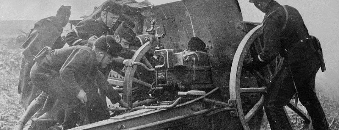 Artillerie belge devant Anvers