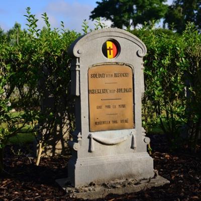 Un soldat inconnu enterré à Keiem
