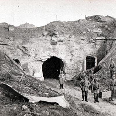 Troupes allemand au Fort de Loncin