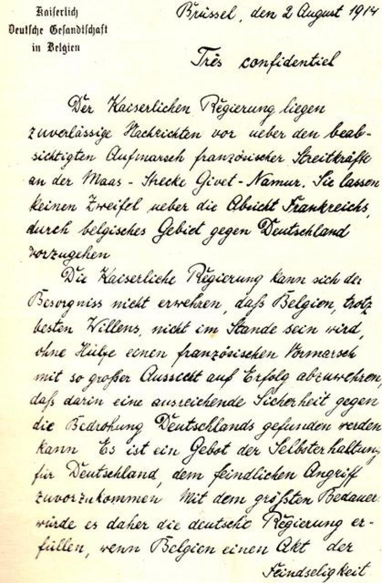 L'ultimatum allemand
